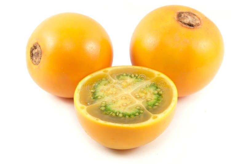 Lulo Frucht von Kolumbien lizenzfreie stockfotos