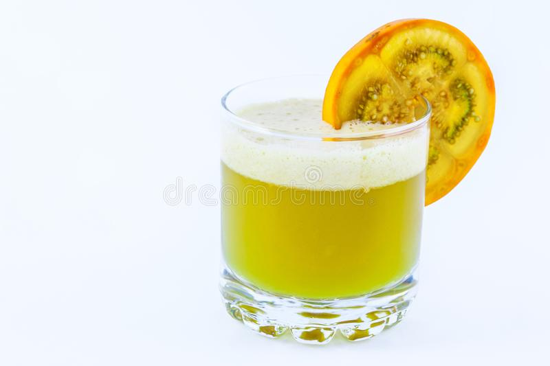 Lulo juice a traditional Colombian exotic fruit royalty free stock image