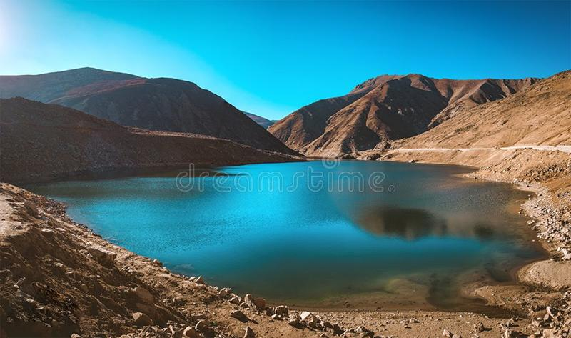 Lulusar湖, Kaghan谷, KPK,巴基斯坦美丽的景色  免版税库存照片