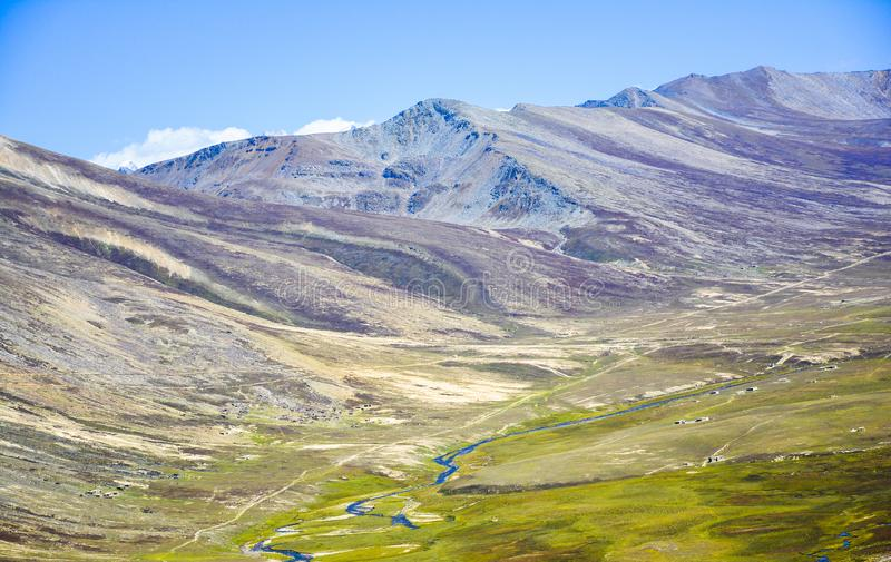 Lulusar grassland & water streams. Lulusar is group of mountain peaks and a lake in the Kaghan Valley in the Khyber-Pakhtunkhwa province of Pakistan. The highest royalty free stock photography