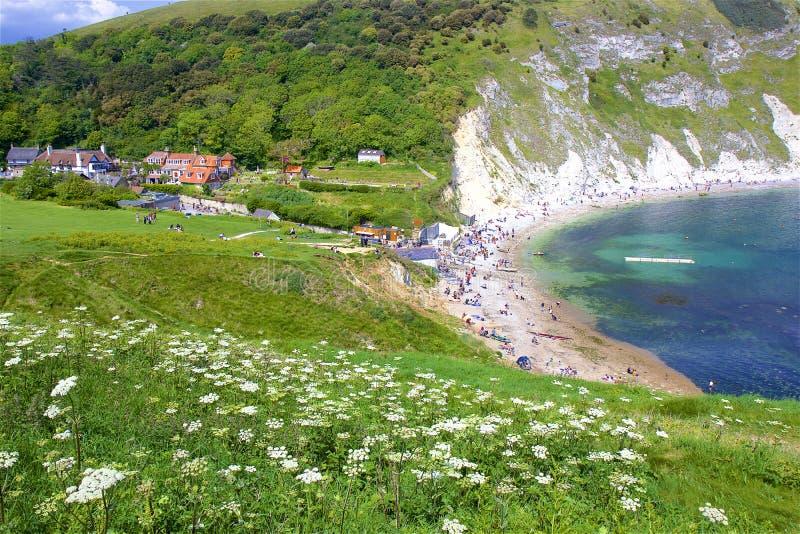 Lulworth Cove - Beautiful beaches of Dorset, UK stock photo