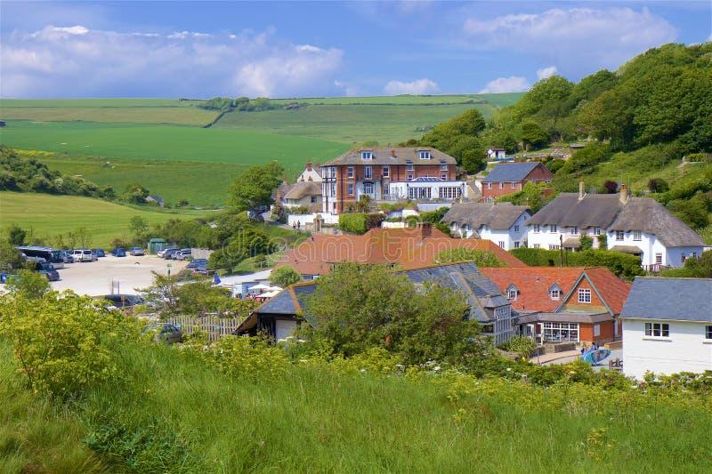 Lulworth Cove - Beautiful beaches of Dorset, UK royalty free stock photography
