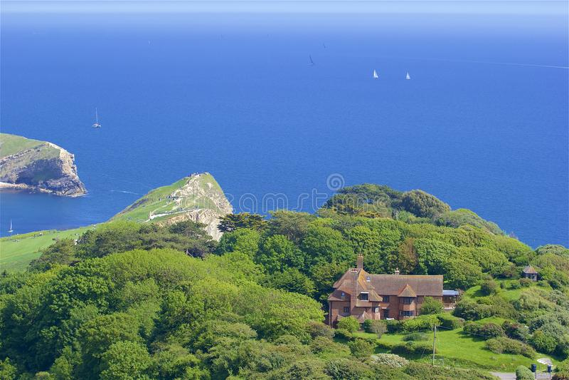 Lulworth Cove - Beautiful beaches of Dorset, UK stock image