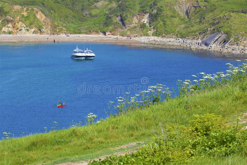 Lulworth Cove - Beautiful beaches of Dorset, UK royalty free stock photography