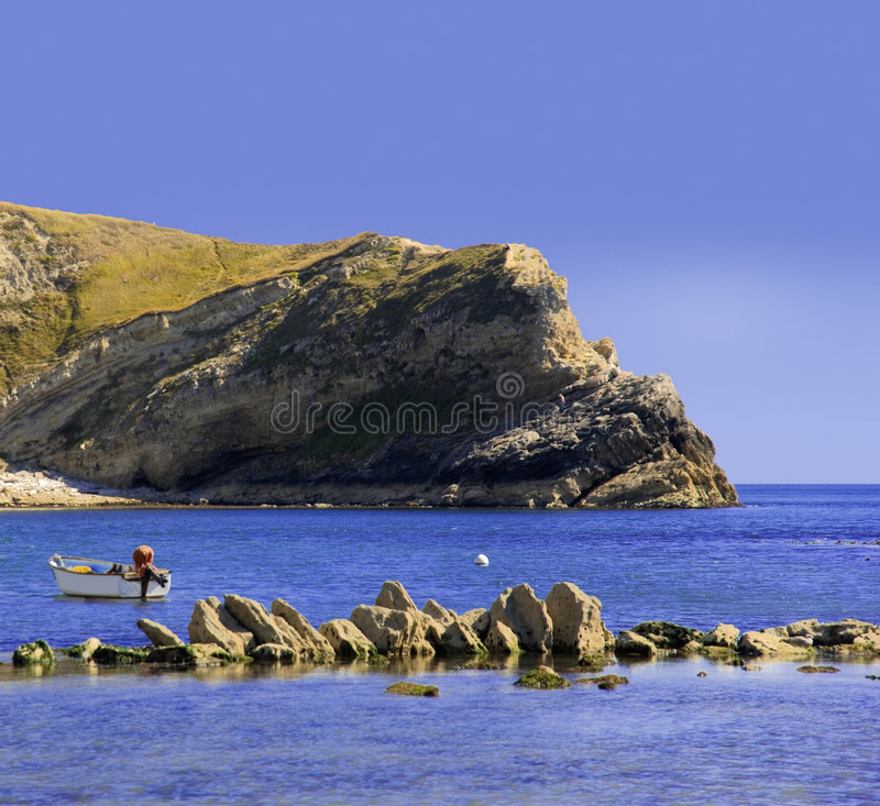 Lulworth cove dorset coast stock photography