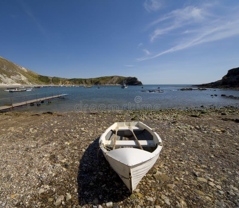Lulworth cove dorset coast england stock images