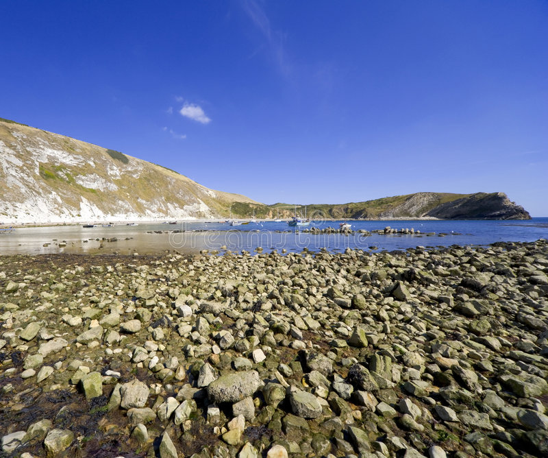 lulworth dorset Англии бухточки свободного полета стоковые фотографии rf