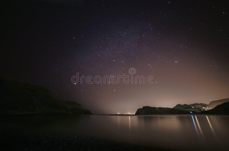 Lulworthinham en de nachthemel stock foto
