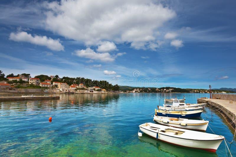 Lumbarda, Kroatien lizenzfreies stockfoto