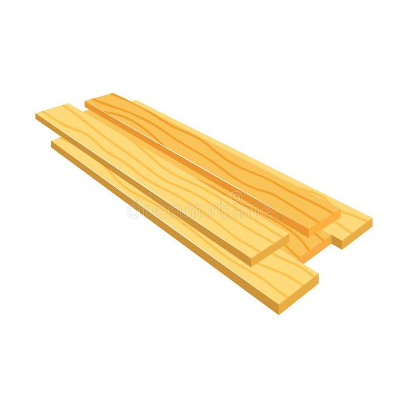 Lumber (тимберс), стог деревянных планок (бары), иллюстрация штока