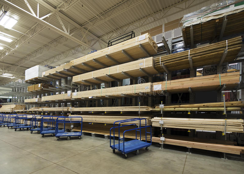 Lumber interior warehouse