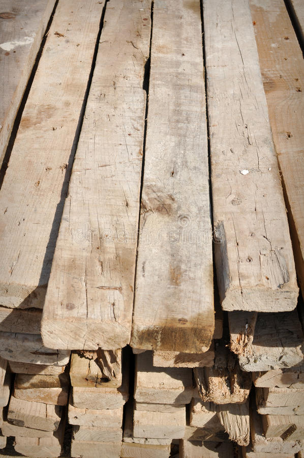 Lumber Material to Build Home in Poor Country. Lumber Material used to Build Home in Poor Country stock image