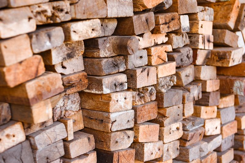 Lumber mill with full of cutting woods warehouse. Factory and production. Environment industry and structure concept stock photo