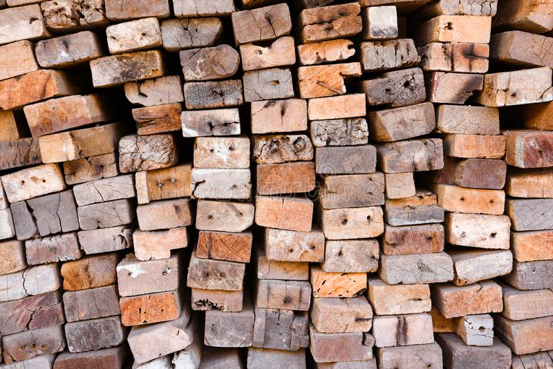 Lumber mill with full of cutting woods warehouse. Factory and production. Environment industry and structure concept. Stack, sawmill, pile, rough, texture royalty free stock photo