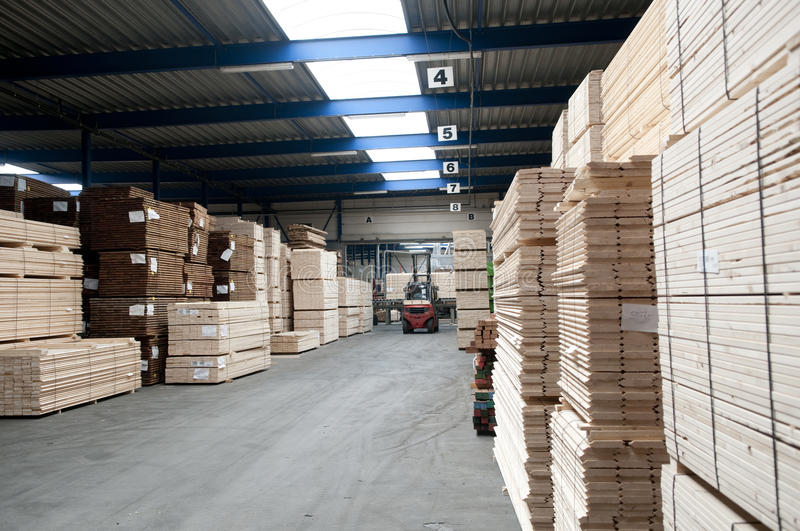 Lumber warehouse royalty free stock photography