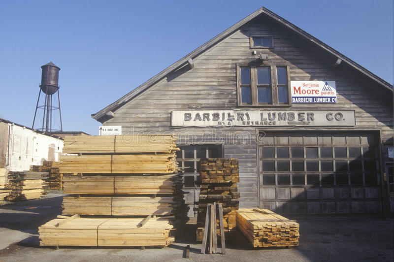 A Lumber Yard Editorial Stock Image