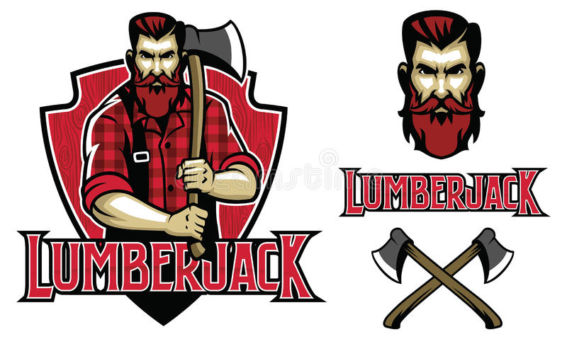 Lumberjack взгляда битника иллюстрация вектора