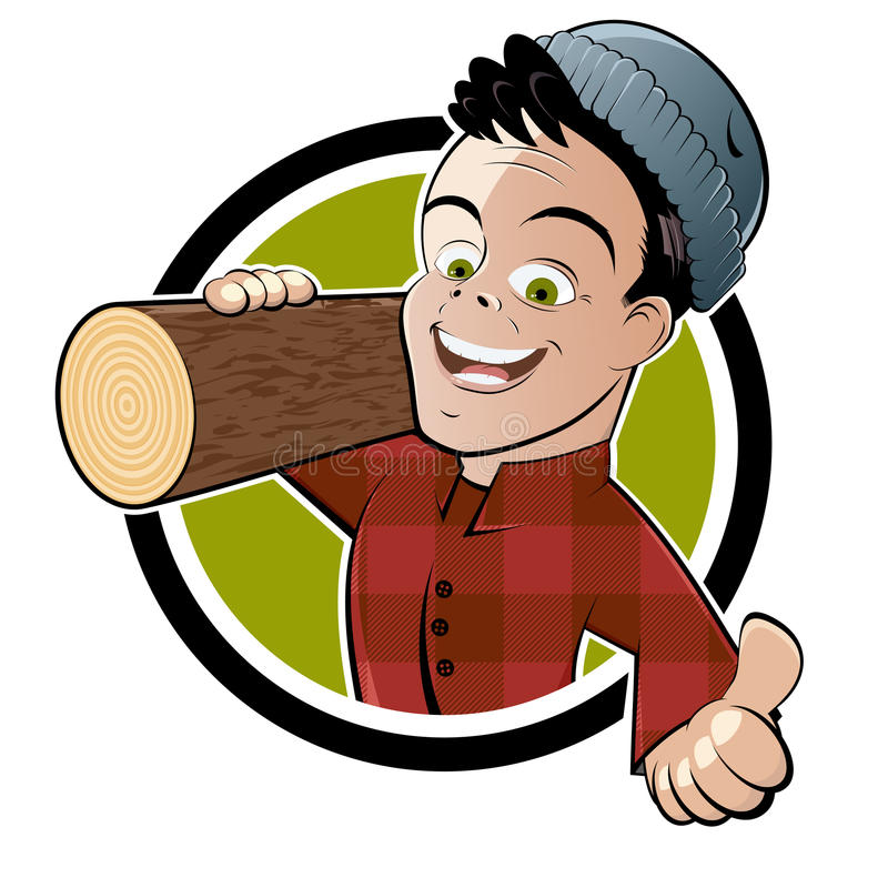 Lumberjack шаржа иллюстрация штока
