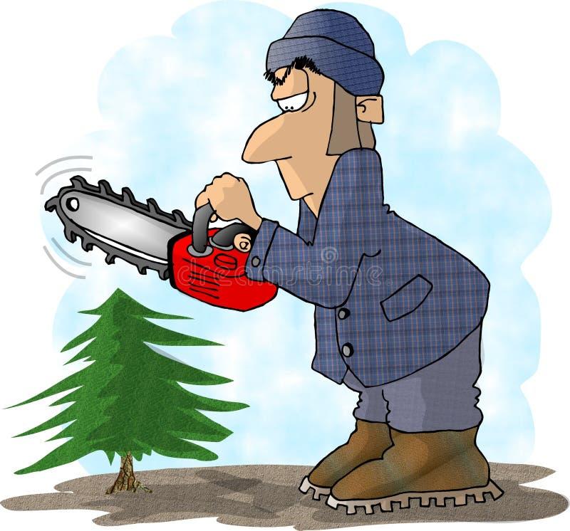 Download Lumberjack stock illustration. Image of pine, cutting, chainsaw - 49474