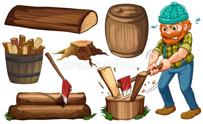 Lumberjack lizenzfreie abbildung