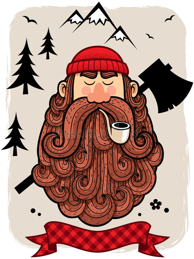 lumberjack illustrazione di stock