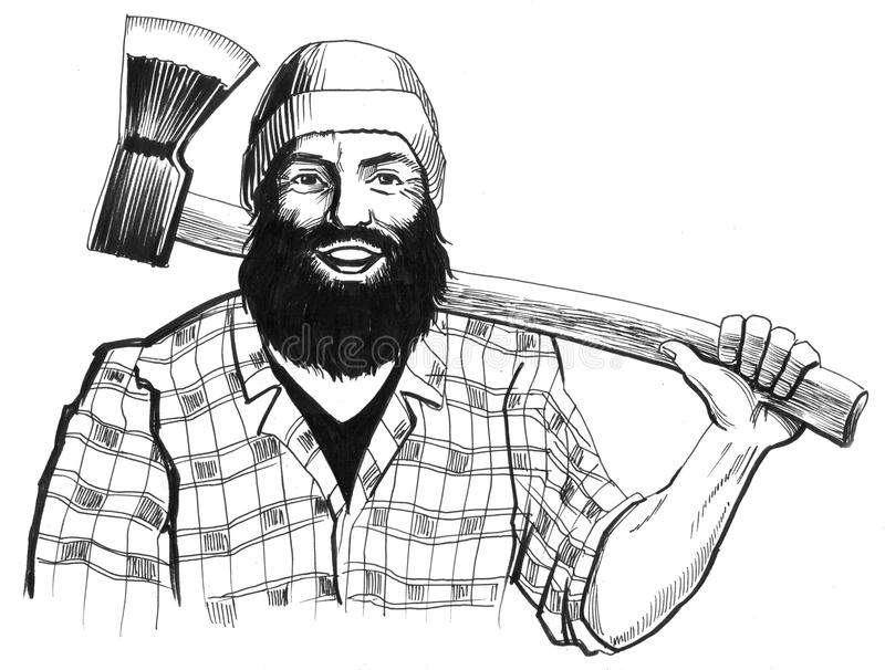 Lumberjack royalty free illustration