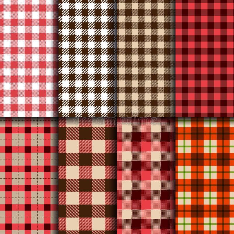 Lumberjack patterns stock illustration