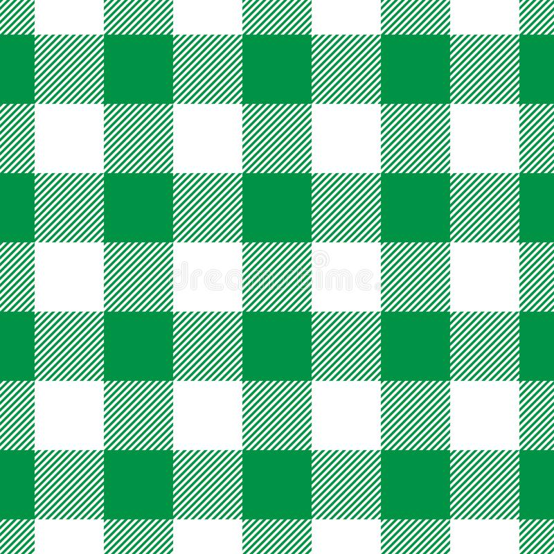 Lumberjack plaid pattern in green and black. Seamless vector pattern. Simple vintage textile design royalty free illustration