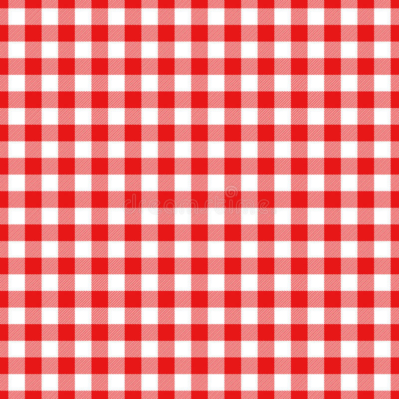 Lumberjack plaid pattern in red and black. Seamless vector pattern. stock illustration