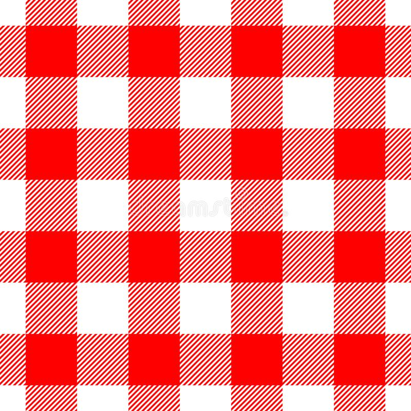 Lumberjack plaid pattern in red and black. Seamless vector pattern. Simple vintage textile design stock illustration
