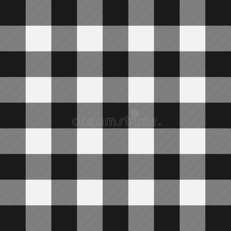 Lumberjack plaid pattern. Template white and black lumberjack. vector illustration
