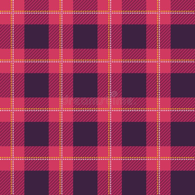 Lumberjack szkockiej kraty wzór tło bezszwowy wektora Naprzemianległy pokrywający się ciemne i barwione komórki ilustracja wektor