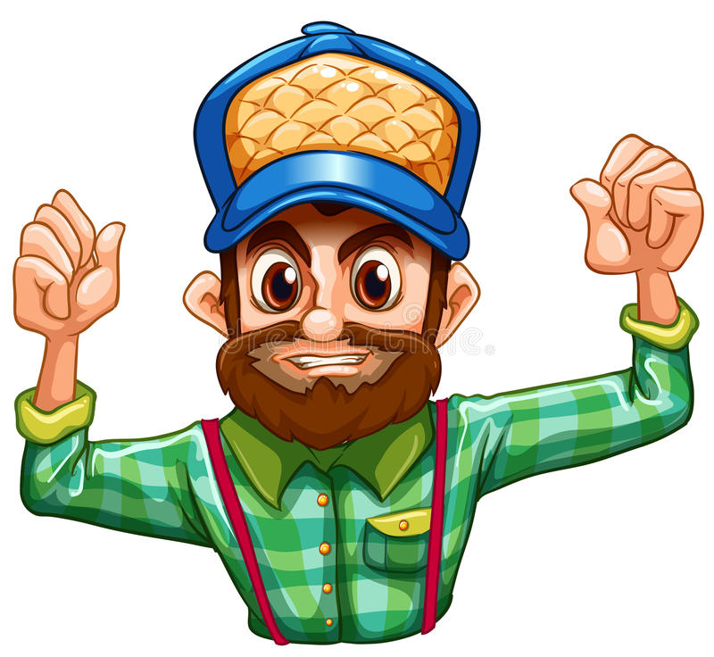 Download A Lumberjack Wearing A Checkered Longsleeve Stock Photography - Image: 33615262