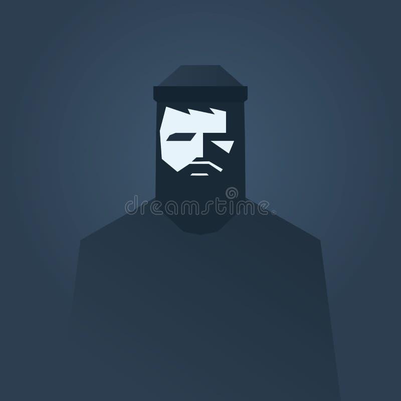 Lumbersexual pojęcia plakatowy projekt Beardy seksowny ilustracji