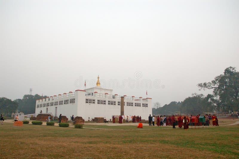 Lumbini, Νεπάλ - τόπος γεννήσεως του Βούδα Siddhartha Gautam στοκ φωτογραφία