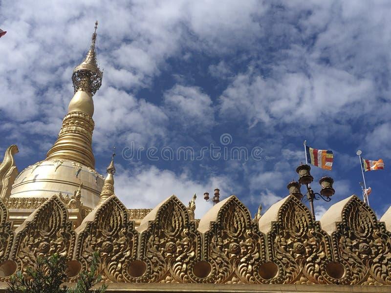 Lumbini tample. Viharaemas, pagoda, taman, tamanlumbini royalty free stock photos