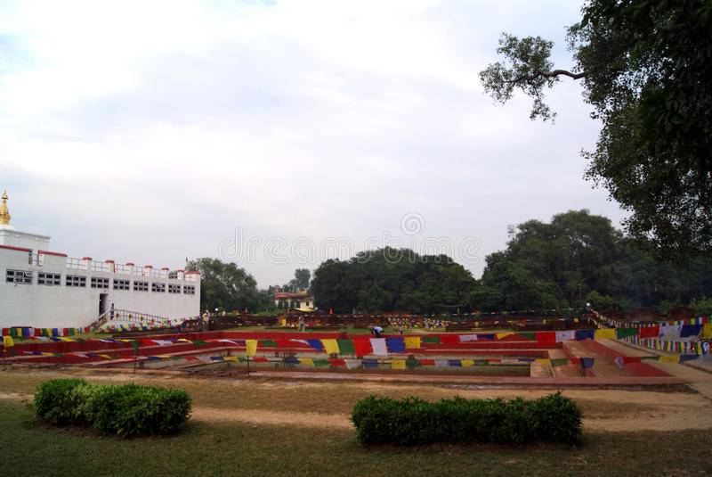 Lumbini Vana es patrimonio cultural del mundo imagenes de archivo