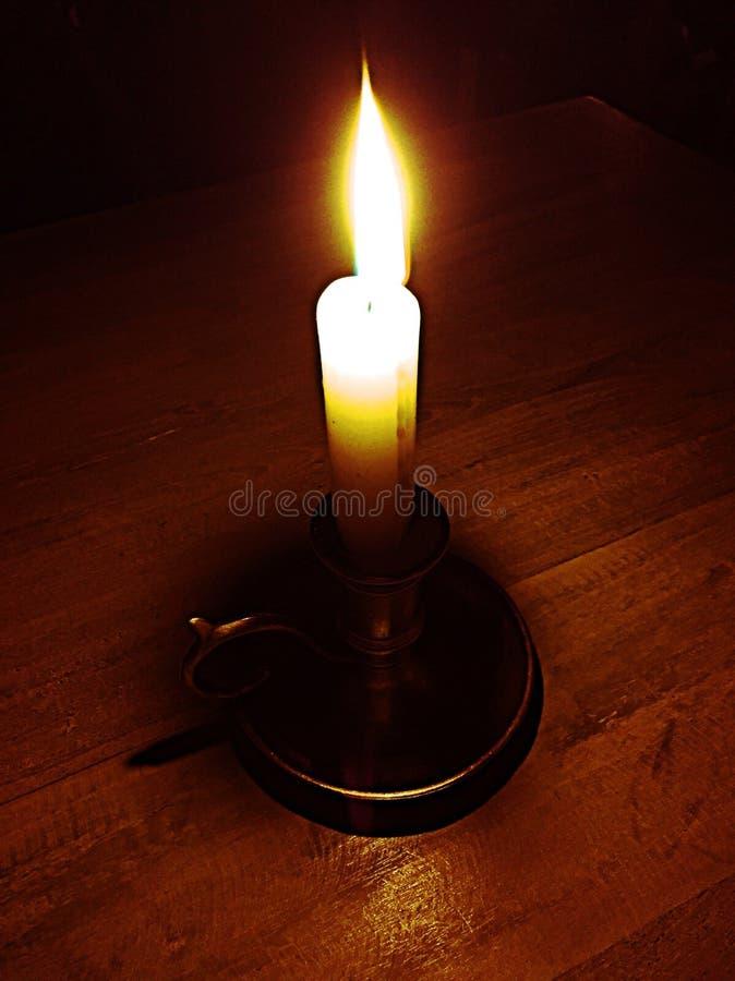 Lume di candela romantico fotografie stock libere da diritti