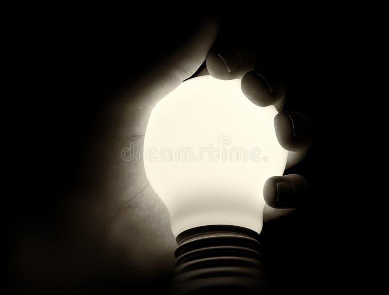 Lumière à disposition illustration de vecteur