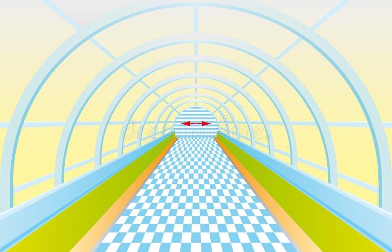 Lumière à l'extrémité du tunnel illustration stock