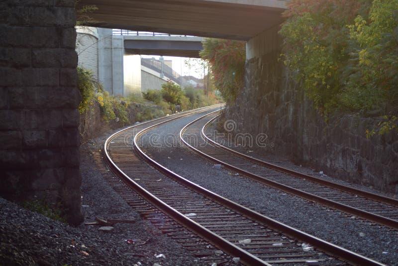 Lumière à la fin du tunnel images stock