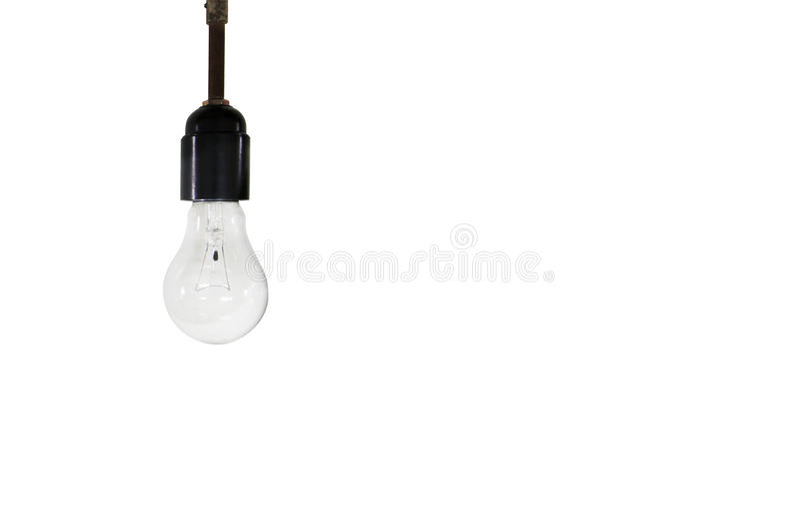 lumière électrique sur un fond blanc photo libre de droits