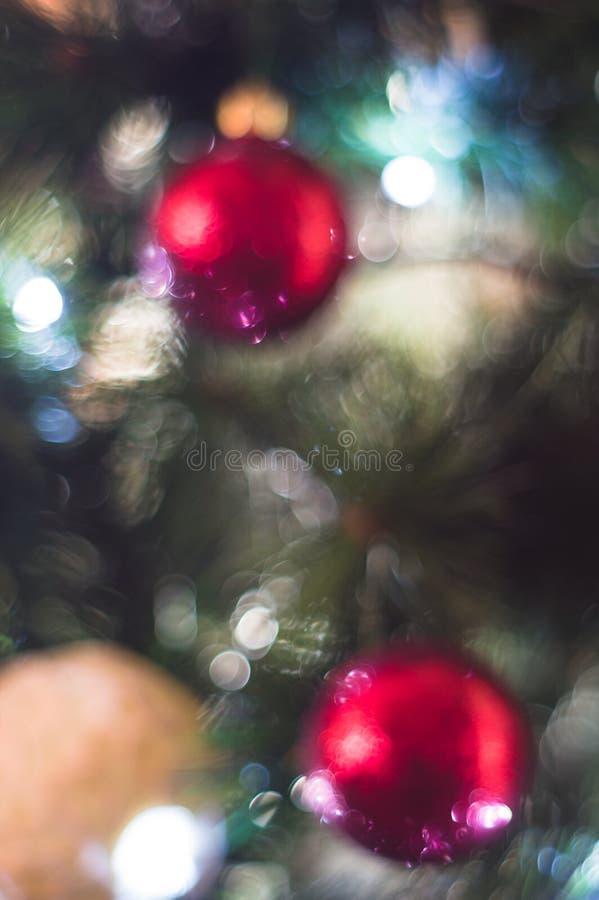 Lumière abstraite d'arbre de Noël images stock