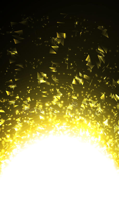 Lumière abstraite de vecteur Rougeoyer lumineux sur le fond foncé illustration libre de droits