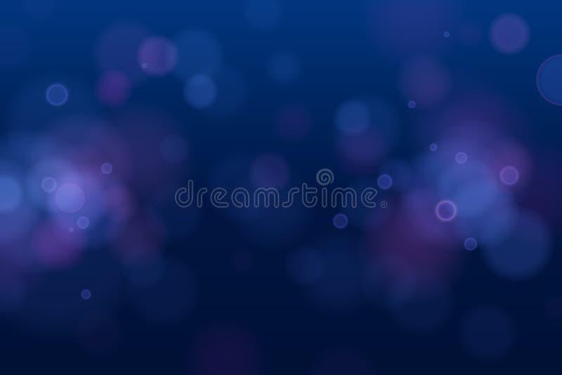 Lumière bleue circulaire defocused abstraite de bokeh sur le fond foncé ENV 10 illustration stock