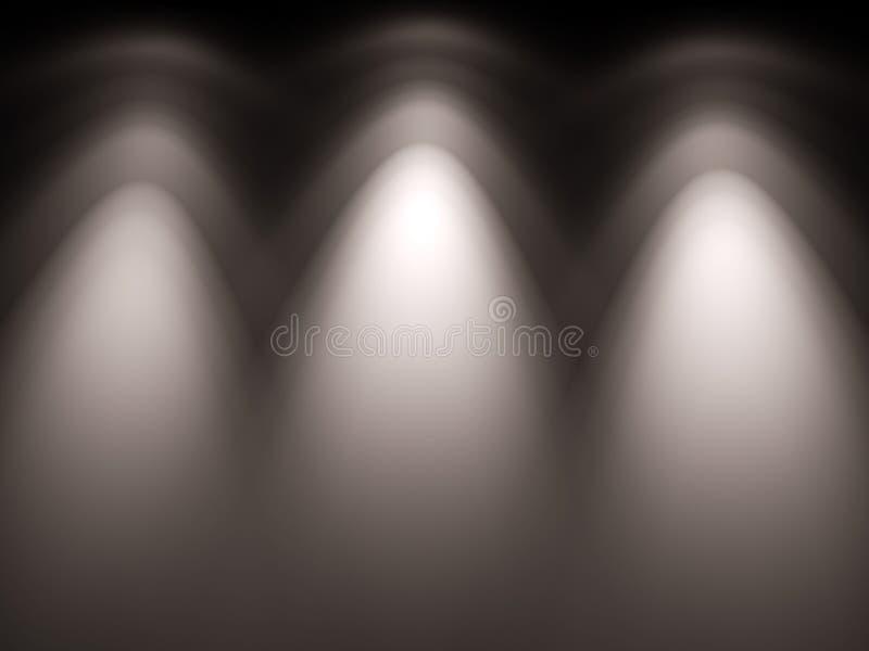 Lumière-carte de haute résolution de lampes de projecteur illustration de vecteur
