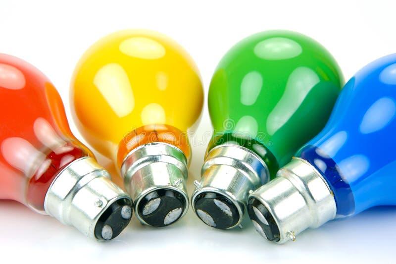 lumière colorée par ampoules photos libres de droits
