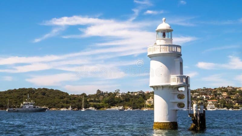Lumière d'île de requin, un phare actif de pile situé juste au nord de l'île de requin photographie stock