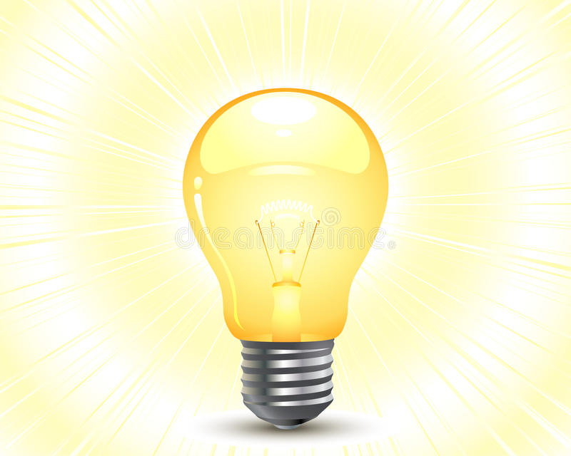 lumière d'ampoule illustration libre de droits