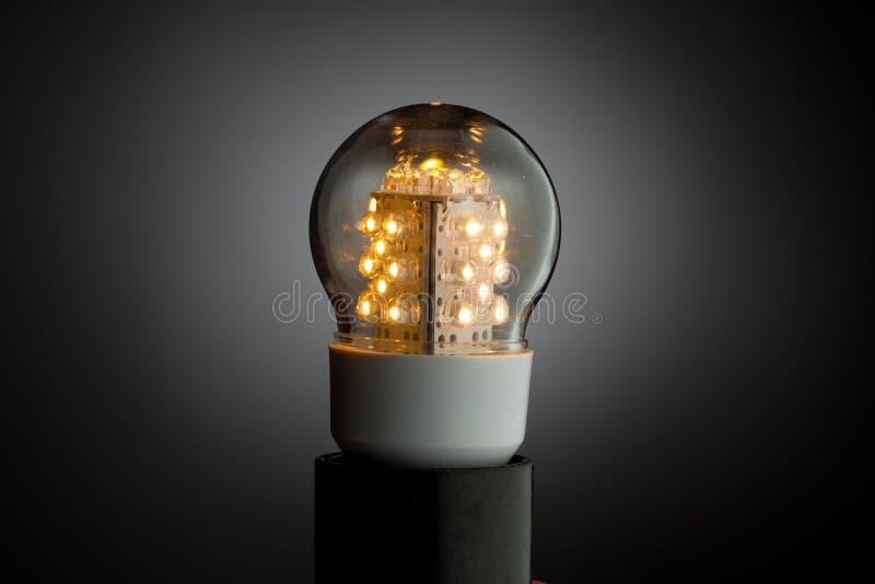 Lumière d'ampoule aboutie image libre de droits